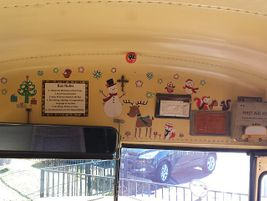A school bus driver at Village Christian Schools in Sun Valley, California, got into the spirit...