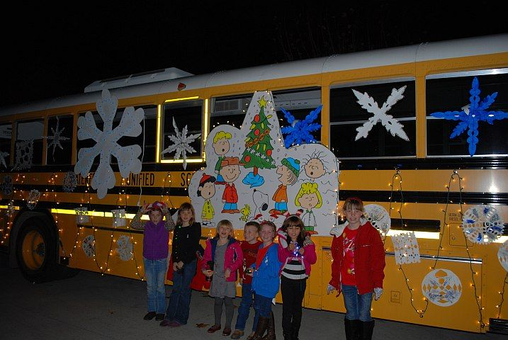 Students and transportation department staff at the Waterford (Calif.) Unified School District...