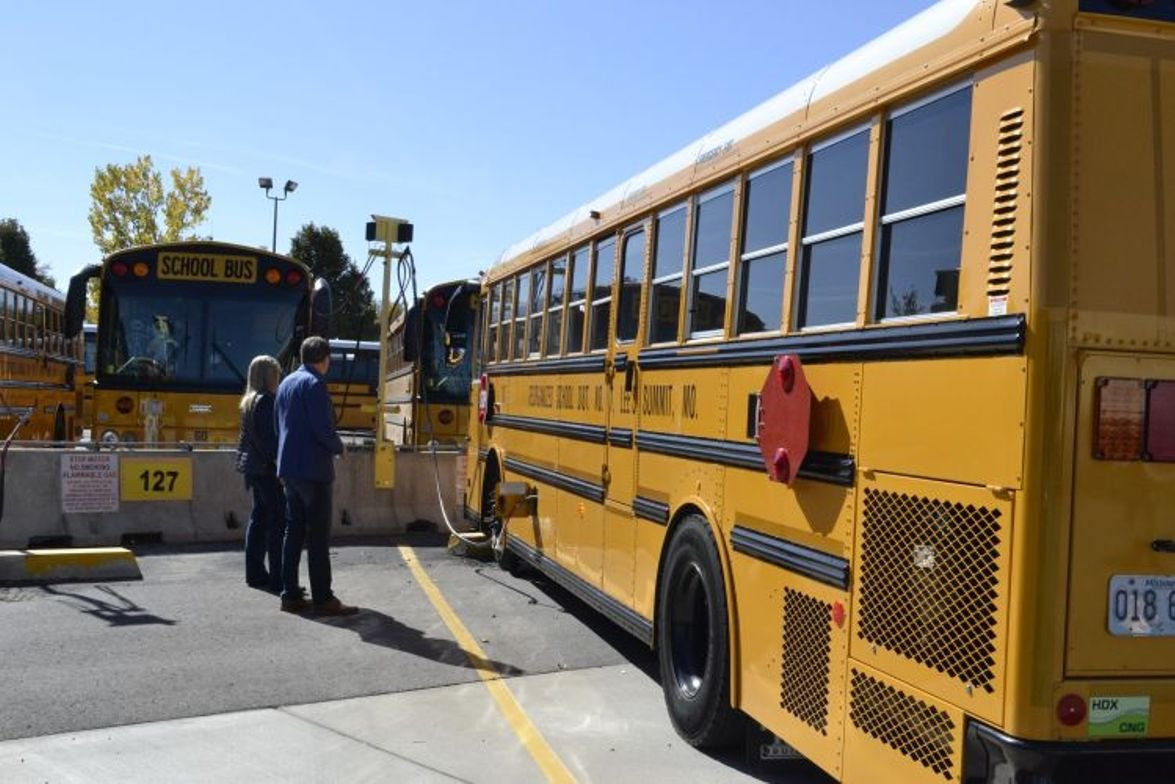 Before the demonstration, attendees visited Lee's Summit R-7 School District to check out its...
