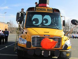 Last year, Spotsylvania decorated one of its school buses to look like the character Olaf in the...