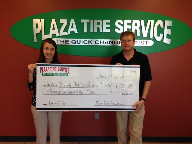 Plaza Tire raises $11.6K for St. Jude campaign
