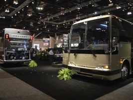 Prevost's booth featured a Volvo 9700, as well as the H3-45 and X3-45.