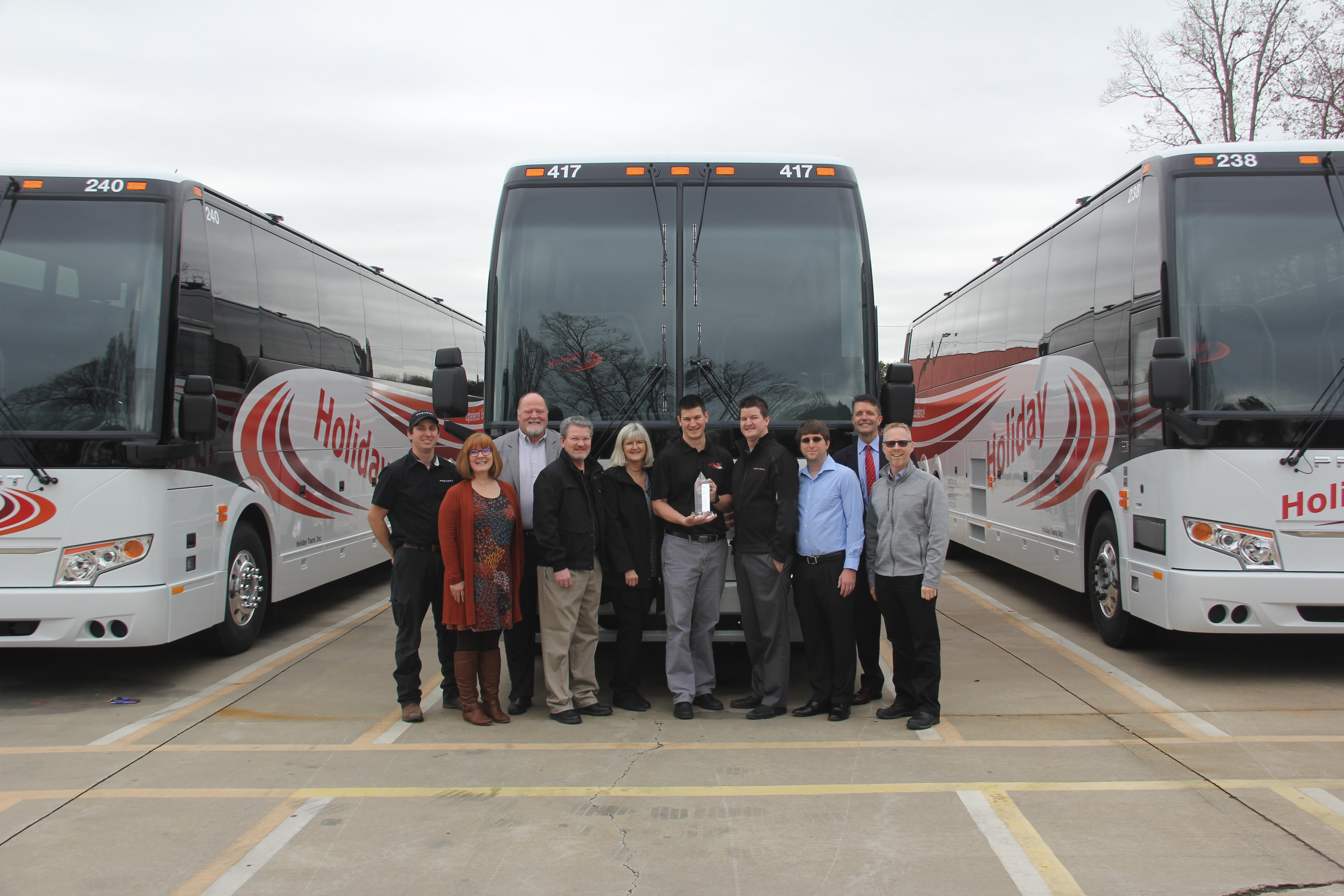 Holiday Tours celebrates 100th Prevost motorcoach