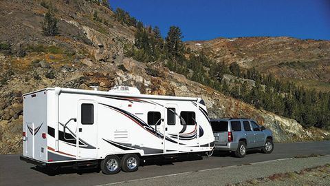 Much of the growth in the RV market is due to strong sales of trailers that can be towed behind...