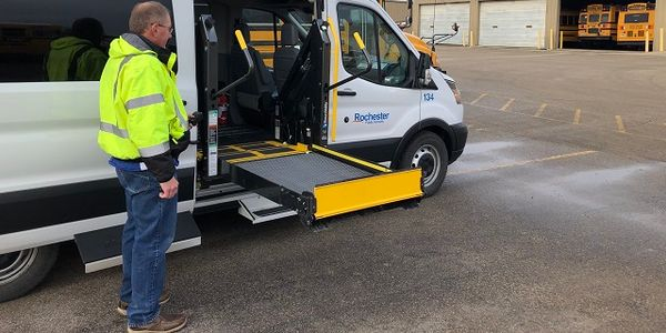 Rochester (Minn.) Public Schools has equipped one ofits transit vans with the AbiliTrax Shift N...