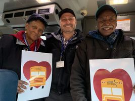 Drivers from Rockingham County (N.C.) Schools received over $3,000 worth of food gift...