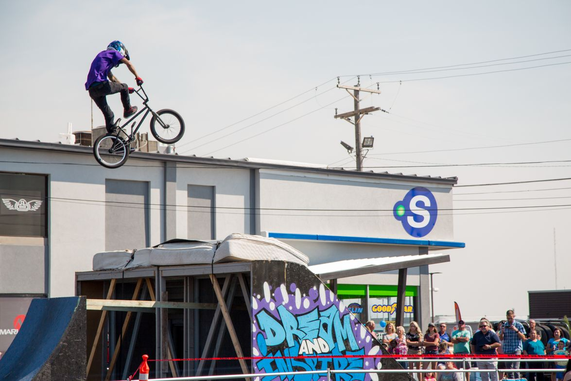 A big feature of the grand opening at Ron's Tire & Motorsports was a series of performances by...