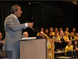 The Love the Bus 2016 main event, organized by the American School Bus Council (ASBC), was held at Cosumnes River Elementary School in Sloughhouse, California, on Feb. 19. Congressman Ami Bera was one of the speakers.