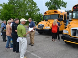 "Blue Bird invited customers to ride and drive its latest school buses at a ""Product Immersion Tour"" stop in Nashville, Tennessee, on May 11. A similar event was held in Dallas in April."