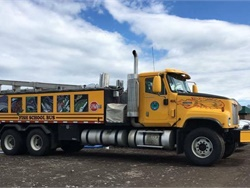 """We've heard of a school of fish, but a school bus of fish? Christie Bond-Hill of Homer, Alaska, photographed this creatively painted truck, which transports young fish (called """"fry"""") from a hatchery in Anchorage."""