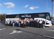Bailey Trailways creates polio awareness with new Van Hool CX45