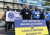 Transportation workers form coalition to stop driverless buses in Ohio