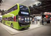 Alexander Dennis' Enviro500 concept bus on display in Singapore