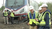 [Video] B-Roll of Scene of Amtrak Train #188 Derailment in Philadelphia