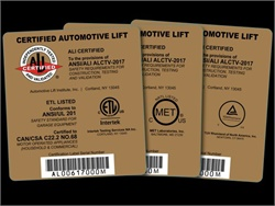 The new standard for vehicle lifts to earn the Automotive Lift Institute's Gold Label is ANSI/ALI ALCTV: 2017. It took effect on July 24, 2018.