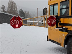 Bigfork (Mont.) School District 38 was spurred by a recent illegal passing incident that severely injured a student at a nearby district to install extended stop arms on all its buses. Photo courtesy Rob Tracy