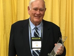 Bill Moore, owner of Moore School Bus, won the Pennsylvania School Bus Association's Bus Stops Here Award.