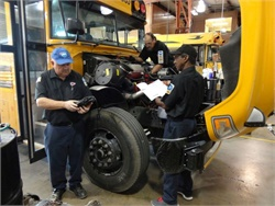 An update from The TechForce Foundation concludes the transportation technician shortage is growing more severe. Photo courtesy Biloxi (Miss.) Public Schools