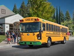 Duke Energy is proposing a $76 million initiative to spur electric vehicle adoption across North Carolina. Shown here is a Blue Bird Type D Electric School Bus.