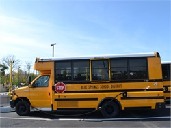 Blue Springs School District's six new Collins CNG buses are designed for students with special needs.