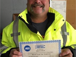 Brad Miller, a maintenance technician for Durham School Services' Indianapolis location, has earned the ASE Master School Bus Technician certification.