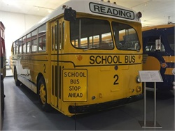 The Museum of Bus Transportation showcases restored school buses, motorcoaches, and transit buses. Seen here is a 1951 ACF-Brill school bus.