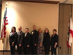 School transportation providers from across the state gathered on April 1 in Anaheim to kick off the annual California Association of School Transportation Officials conference. Shown here are the association's executive board members. Photo courtesy Mike Swayer, CASTO