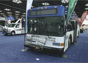 The remanufactured ZEPS bus is rebuilt with lightweight flooring, low resistance tires, and energy-efficient heating and cooling, while ensuring a reach of 130 mile range on a single battery charge. Each 40-foot electric bus carries 36 seated passengers plus standees and is equipped with air operated doors, brakes, suspension, hydraulic power-steering, stainless steel bike racks, LED lighting and lightweight seats.