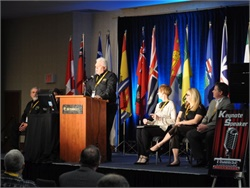 The Canadian Pupil Transportation Conference, held every two years, will take place in Ontario this year. Seen here is the 2016 event in Manitoba.