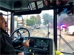 PHOTOS: School Buses Traverse Mudslide Area