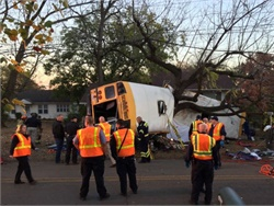 In the wake of the Nov. 21 fatal crash in Chattanooga, Tennessee, state lawmakers have introduced several bills that take aim at school bus safety. Photo courtesy Chattanooga Fire Department