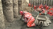 Video: Crossrail's archeological dig in London reaches Roman levels