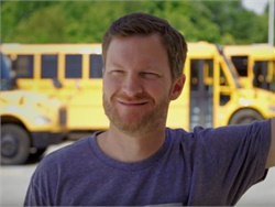 In a new video from Thomas Built Buses, NASCAR star Dale Earnhardt Jr. surprises drivers at Cabarrus (N.C.) County Schools, thanking them and other school bus drivers for the service they provide for students.