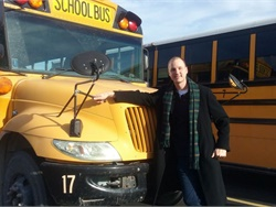 Dan Zylstra, the elementary principal for West Central School Corp. in Francesville, Indiana, is a substitute driver and is researching driver recruitment and retention for his doctorate in education. Photo by Holly Schultz