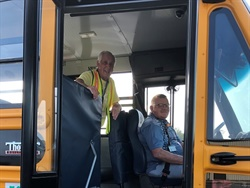 School bus drivers and monitors from four Kentucky school districts recently took part in a behavior management training. Shown here are transportation staff members from Daviess County Public Schools. Photo courtesy Downey Ward