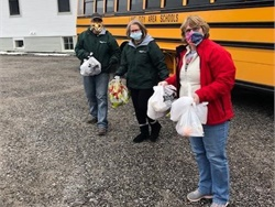 Dean Transportation drivers and other employees have delivered approximately 330,000 meals to school children across Michigan. Photo courtesy Dean Transportation