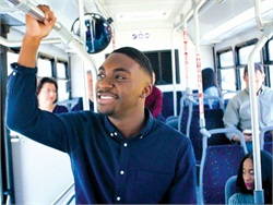 In Denton, Texas, some high school students who don't qualify to ride the yellow bus can get discounted transit passes and ride on an existing route to school.