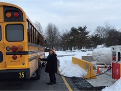 The 43rd Annual Montgomery-Bucks School Bus Safety Competition in Pennsylvania will use propane buses for the first time. Shown here is a new Blue Bird Propane Vision bus that Derry Township School District added to its fleet.