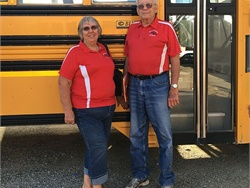 For 55 years, Chris and Carol Detje have driven school buses for North Tama County (Iowa) Community School District. Their length of service is only one year shorter than their marriage.