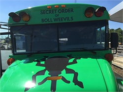 Durham's donation of a wrapped school bus will help Boll Weevil Charity Foundation assist the mid-south community through financial support, goods and services, and spiritual upliftment.