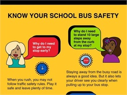 "Durham School Services has created ""Rollin' With Safety,"" which gives students and parents school bus safety tips."