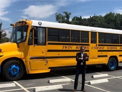 Twin Rivers Unified School District in California is working with Electriphi on charging management and data collection as it plans to transition to an all-electric bus fleet. Shown here is Muffi Ghadiali, Electriphi's co-founder and CEO. Photo courtesy Electriphi