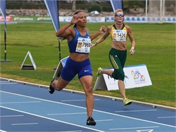 School bus driver and sprinter Emma McGowan won gold and silver medals at the 2018 World Masters Athletics Outdoor Championships.