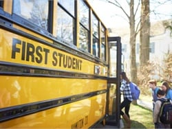 FirstGroup may sell First Student and First Transit, building on a plan that includes the sale of Greyhound. Photo courtesy First Student
