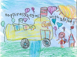 The latest winner in First Student's art contest is second grader Ruby Boula of Temescal Valley Elementary School. The bus company awarded her school $1,000 for classroom supplies.