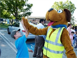First Student's safety mascot Safety Dog wished students at Calgary (Alberta) Catholic School District a happy first day of school.