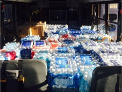 Employees at 17 First Student locations in Michigan have collected and delivered more than 10,000 bottles of water to Flint residents.