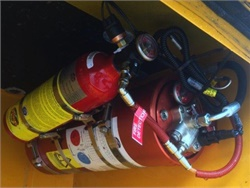 BusWest will distribute, service, and install Fogmaker fire suppression systems, seen here on a school bus.