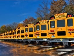 Fort Worth (Texas) Independent School District is paying a $500 sign-on bonus to new school bus drivers. It is also offering a payout for 95% to 100% driver attendance. File photo courtesy Fullington Buses
