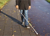 Aiming to live and travel 'unimpeded' with a visual impairment